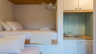 Children's Room with Fridge and toilet with shower. Bed's with very comfortable mattress wider than standard. (Upper bed measures 180cm in length, which is 10cm shorter than the standard.)